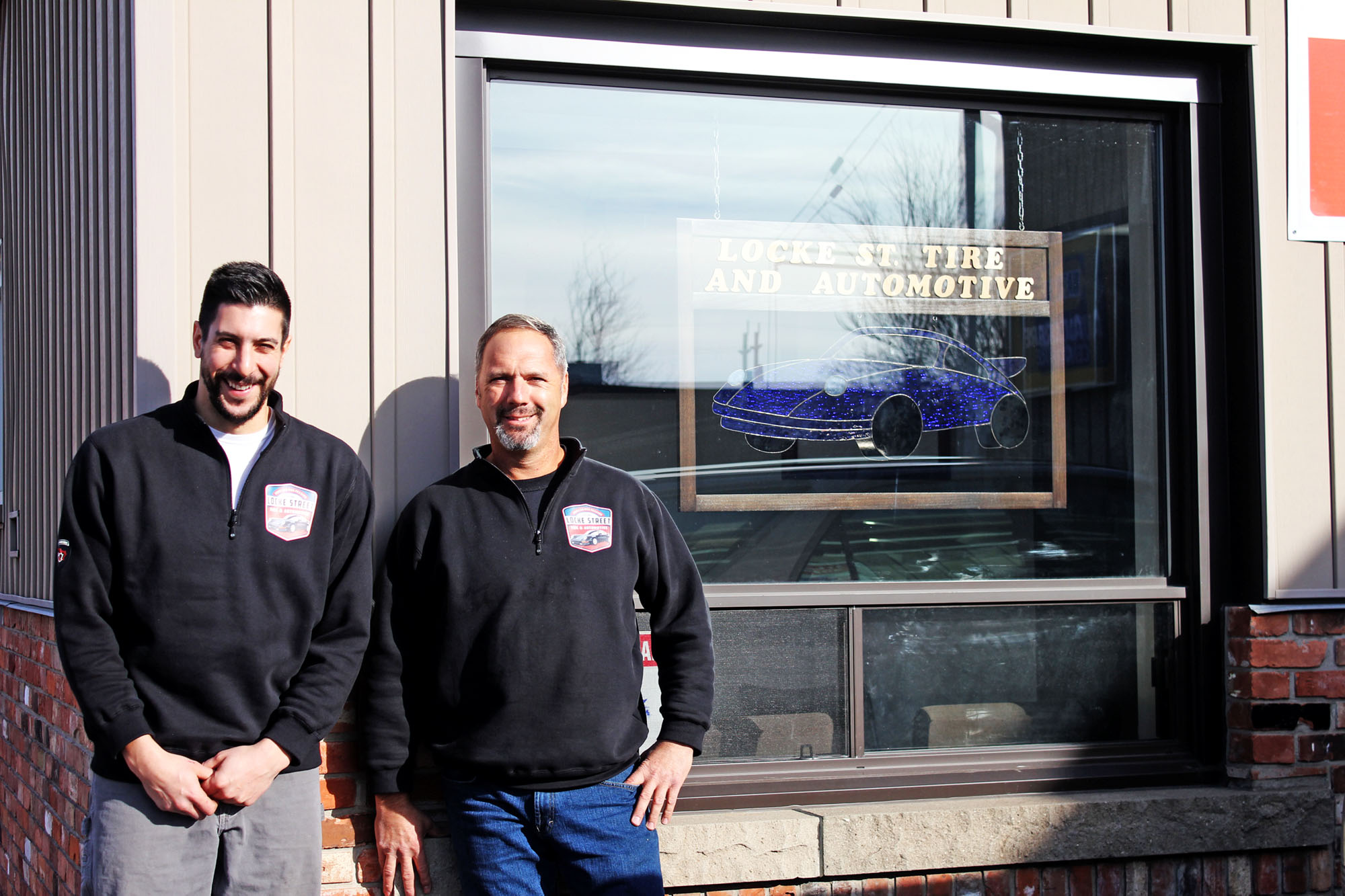 James Maida & Robert Bernacci outside Locke Street Tire & Automotive