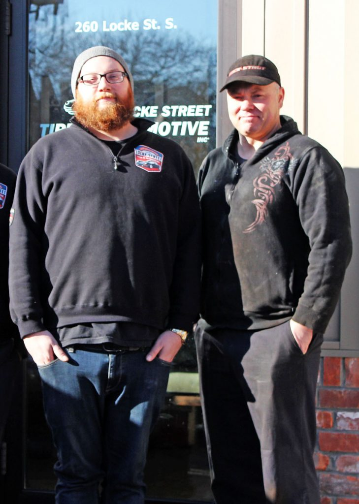 locke-street-tire-and-automotive-mechanics-technitians-outside-shop-square-crop